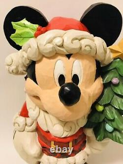 NewJIM SHORE 17 Disney Traditions Large MICKEY Mouse Old St Mick Christmas