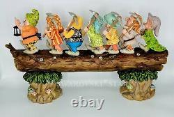 Nib 19.5 Musical Seven Dwarfs Jim Shore Disney Tradition Masterpiece 6005147