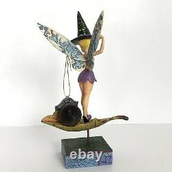 Pixie-Be-Witched Disney Traditions Jim Shore Enesco Tinker Bell Witch Hat 7.5