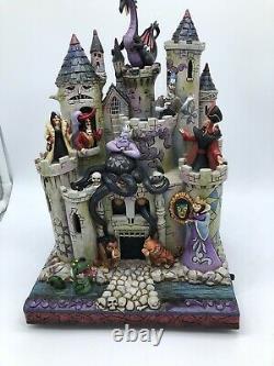 RARE Disney Jim Shore Halloween Villains Tower Of Fright Maleficent Ursula MIB