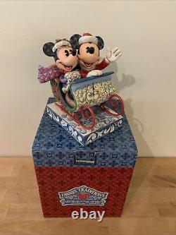RARE Disney Jim Shore Mickey & Minnie Mouse Old Fashioned Sleigh Ride 4013970