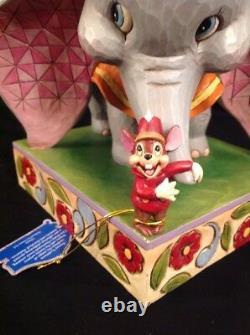 RARE Disney Jim Shore Traditions Dumbo & Timothy Mouse Figurine HTF Elephant