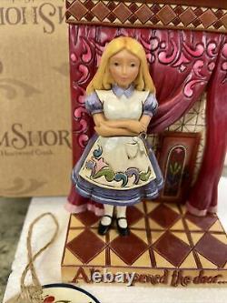 RARE Jim Shore Disney Alice in Wonderland Rabbit Found Wonderland Open Door New