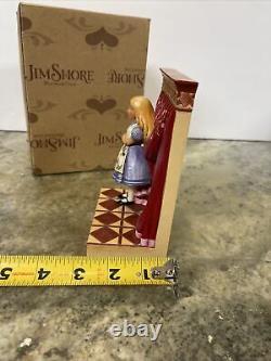 RARE Jim Shore Disney Alice in Wonderland Rabbit Found Wonderland Opened Door