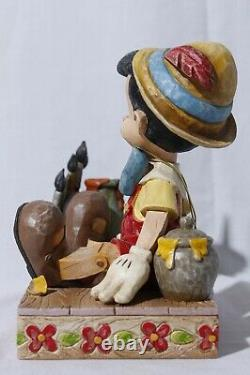 Rare Disney Traditions Jim Shore Enesco Pinocchio Carved From The Heart