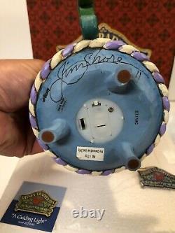 Rare HAND SIGNED JIM SHORE Disney JIMINY CRICKET Candle Guiding Light PINOCCHIO