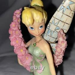 Rare HTF DISNEY TRADITIONS SHOWCASE JIM SHORE TINKERBELL MONTHLY FIGURINE AUGUST