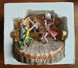 SIGNED Disney Traditions Peter Pan & Hook Daring Duel Figurine by Jim Shore