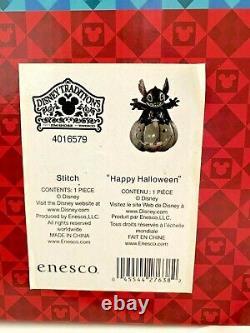 Super Rare Disney Tradition Stitch Pumpkin Happy Halloween Lights Up 6