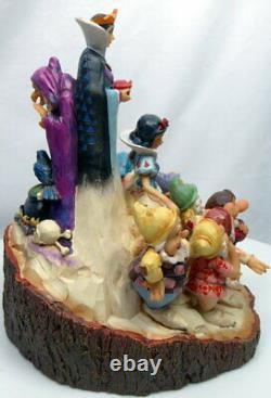 Disney Enesco Shore Traditions 4023573 Schneewittchen 7 Zwerge Sculpté Par Le Cœur
