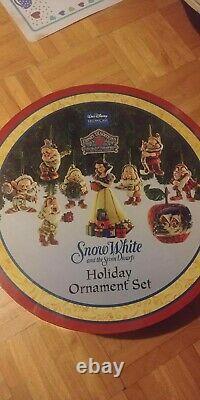 Disney Showcase Blanche-neige & 7 Nains Ornement De Noël Set Par Jim Shore