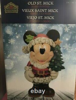 Disney Traditions Décor De Noël Mickey Mouse Old St Mick Jim Shore 17 Inch Nouveau