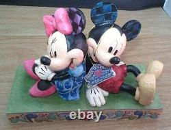 Disney Traditions Enesco Jim Shore Mickey & Minnie Mouse Bookends