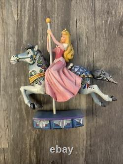 Disney Traditions Enesco Jim Shore Princesse De Beauté Aurora Cheval Carousel