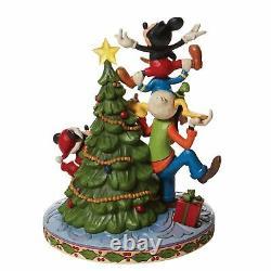 Disney Traditions Fab 5 Décorant Le Tree Figure Jim Shore Noël Nouvelles Lumières Vers Le Haut