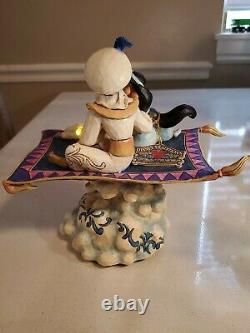 Disney Traditions Jim Shore Aladdin & Jasmine Magic Carpet Ride Musique Lights Box