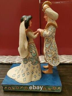 Disney Traditions Jim Shore Jasmine & Aladdin Mariage Un Souhait Devenu Réalité