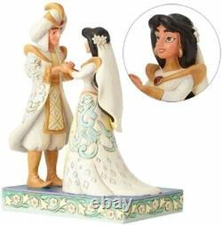 Disney Traditions Jim Shore Jasmine & Aladdin Mariage Un Souhait Devenu Réalité Bnib Htf