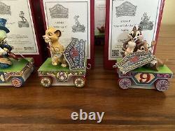 Disney Traditions Jim Shore Le Train D'anniversaire Ensemble Complet Âges 1 9 Tout Nouveau