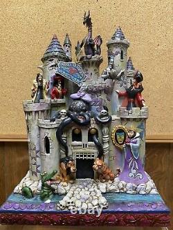 Disney Traditions Jim Shore Showcase Tour De Fright Enesco Villains Castle Box