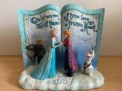 Disney Traditions Livre D'histoires Congelé 'act Of Love' 4049644 Enesco Statue Ornement