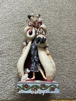 Enesco Jim Shore Disney Traditions Cruella Fur Lined Diva 101 Dalmatiens