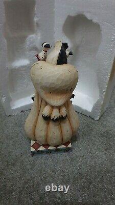 Enesco Jim Shore Disney Traditions Cruella Fur Lined Diva 101 Dalmatiens Rares