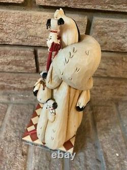 Enesco Jim Shore Disney Traditions Rare Cruella Fur Lined Diva 101 Dalmatiens