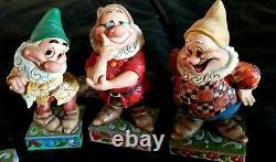 Euc Disney Traditions Enesco Jim Shore Objets De Collection Seven Dwarfs All 7 Withboxes