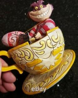 Jim Shore Cheshire Cat Mad Tea Party Figure Disney Traditions #4032117 Nib
