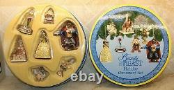 Jim Shore Disney Beauty And The Beast Ornament Set 7 Ornements Château Belle Nib