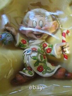 Jim Shore Disney Blanche-neige Et Les Sept Nains Ornement 9 Pc Set Apple Nouveau