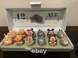 Jim Shore Disney Mickey Minnie Pooh Eeyore 12 Oeufs En Carton 4057679 Retired