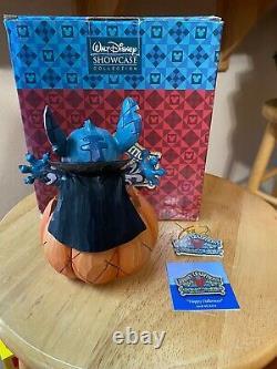 Jim Shore Disney Stitch Halloween En Citrouille Allumée Très Rare 4016579