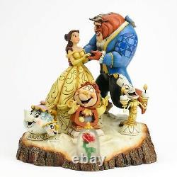 Jim Shore Disney Traditions Beauté Et Bête Sculptée Par Figurine De Coeur #4031487