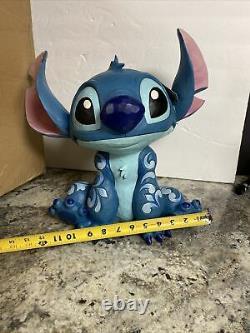Jim Shore Disney Traditions Big Trouble Stitch Figure Large 14 Porte Greeter Nouveau