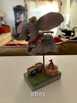 Jim Shore Disney Traditions Carrousel Avec 3 Figurines Dumbo, Blanche-neige & Belle