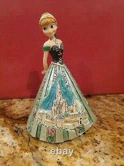 Jim Shore Disney Traditions Congelé Anna En Robe De Château 4048661 Très Rare Pas De Boîte