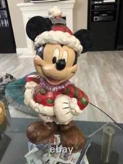 Jim Shore Disney Traditions Grande Mickey Mouse Figure Noël Santa Nouveau