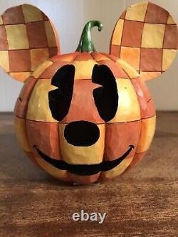 Jim Shore Disney Traditions Joyeux Halloween Mickey Mouse Pumpkin Walt Enesco