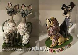 Jim Shore Disney Traditions Lady & The Tramp Intrigant Prétendants Opposites Attirer