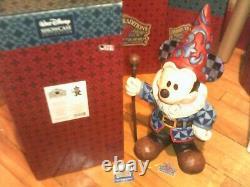 Jim Shore Disney Traditions Mickey Mouse Gnome Big Fig Garden Statue Look! Nouveau