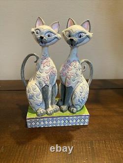 Jim Shore Disney Traditions Prétendants Intrigants Si Am Siamese Cat Lady & The Tramp