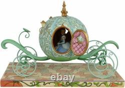 Jim Shore Disney Traditions Pumpkin Coach Avec Cendrillon Figurine Nouveau Endommagé B