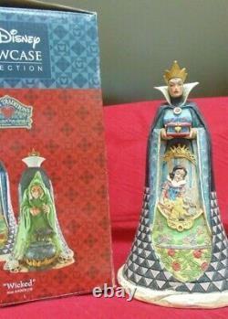 Jim Shore Disney Traditions Wicked Snow White Evil Figurine Sorcière À Deux Côtés