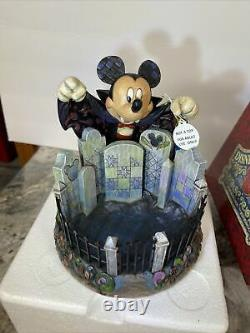 Jim Shore Disney Vampire Mickey Mouse A Sweet Surprise Halloween Candy Dish Mib