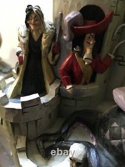 Jim Shore Disney Villains Tower Of Fright. Extrêmement Rare. Htf