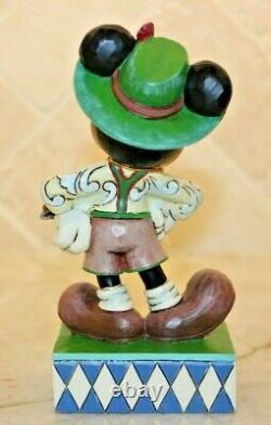Jim Shore Rare Disney Mickey Mouse Autour Du Monde Salutation Allemagne 4043633 Nib