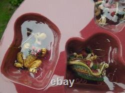 Jim Shore Traditions De Disney Mikey Mouse Holiday Ornament Set Retired Nib Rare