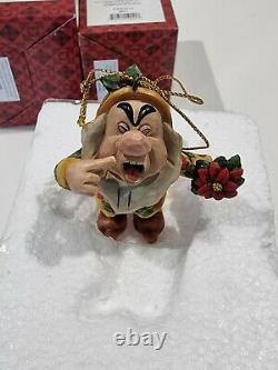 Jim Shore Traditions De Disney Now Blanc Et Les 7 Dwarfs Ornements De Noël